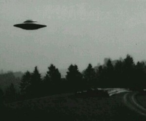 alien, black and white, and ufo image