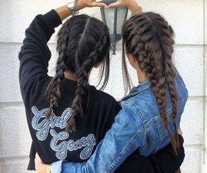 friendship, girl, and hair image