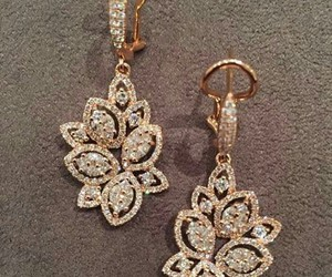 accessories, earrings, and diamond image