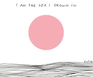 sea, drown, and grunge image