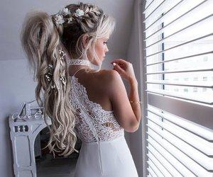 hair, dress, and fashion image