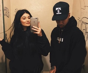 tyga, kylie jenner, and couple image