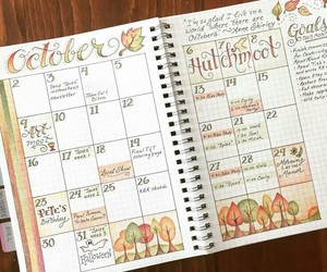 bullet journal, notes, and planner image