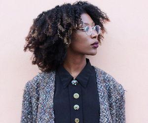brown skin, dark skin, and natural hair image