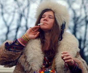 janis joplin, hippie, and janis image