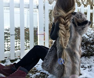 beauty, braids, and fashion image