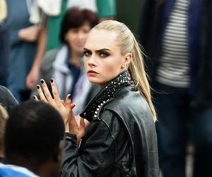 cara delevingne, model, and black image