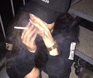adidas, smoke, and night image