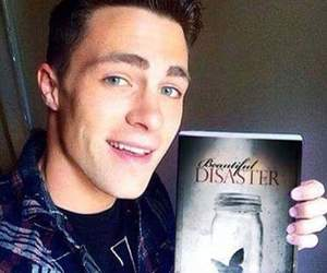 book, beautiful disaster, and colton haynes image