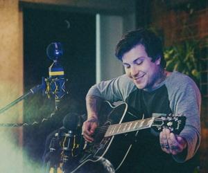 boy, frank iero, and guitar image