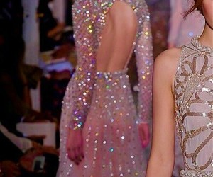 dress, sparkle, and model image