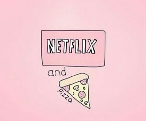 pizza, netflix, and food image
