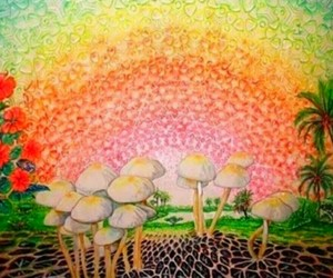 magic, psychedelic, and rainbow image