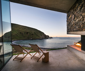 architecture, beach, and chair image