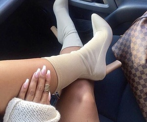 fashion, shoes, and nails image