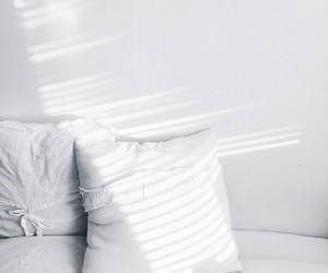 white, pillow, and bed image