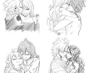 anime, nalu, and couples image