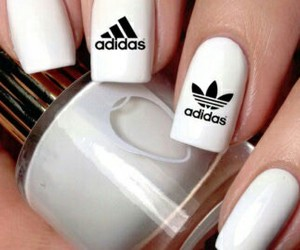 adidas, nails, and girl image