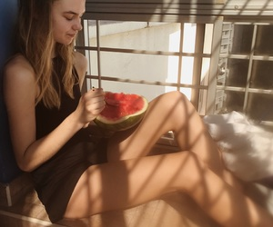 blondie, girl, and melon image