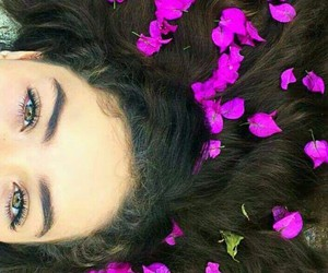 eyes, flowers, and me image