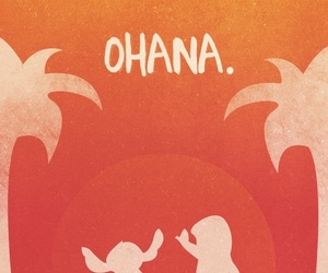 disney, ohana, and stitch image