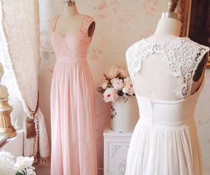 lace, bridesmaid dresses, and long image