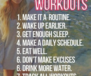 workout, healthy, and tips image