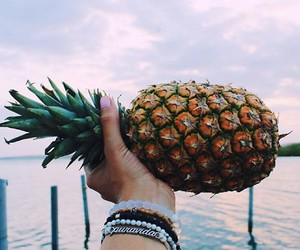 pineapple, sunset, and beautiful image
