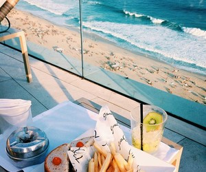 beach, blue, and relax image