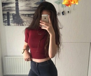 brunette, watch, and iphone 5s image