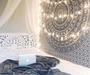 bedroom, lights, and tumblrish image