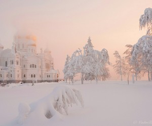 snow, white, and winter image