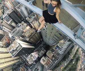 city, adventure, and girl image