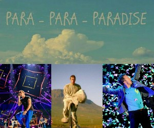 coldplay, Collage, and paradise image