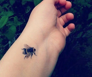 girl, small, and tattoo image