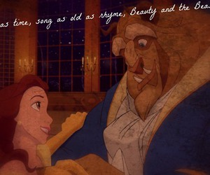 beauty and the beast, quote, and disney couple image