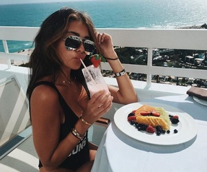 beach, food, and goals image