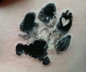 tattoo, dog, and paw image