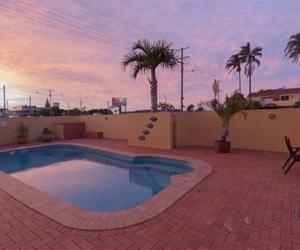 sunset, pool, and tumblr image