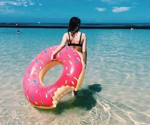 blue, donut, and float image