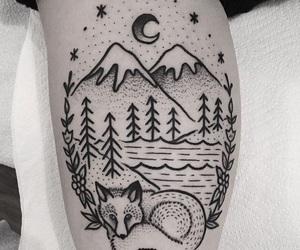 fox, tattoo, and fox tattoo image