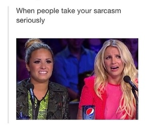 funny, sarcasm, and demi image