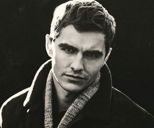 dave franco and black and white image