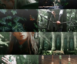 Collage, elf, and green image
