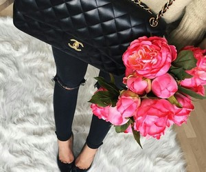 chanel, flowers, and winter image