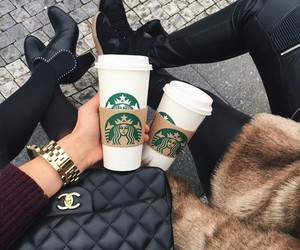 black, chanel, and winter image