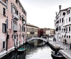 bridge, gondola, and venice image