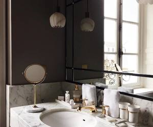bathroom, beauty, and routine image