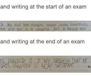 exam, funny, and handwriting image