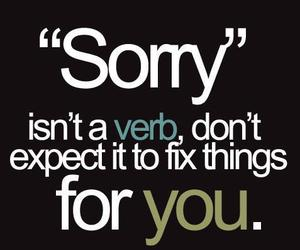 quote, sorry, and text image